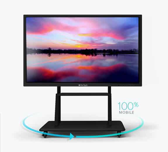 clear touch interactive panels fixed mobile stand